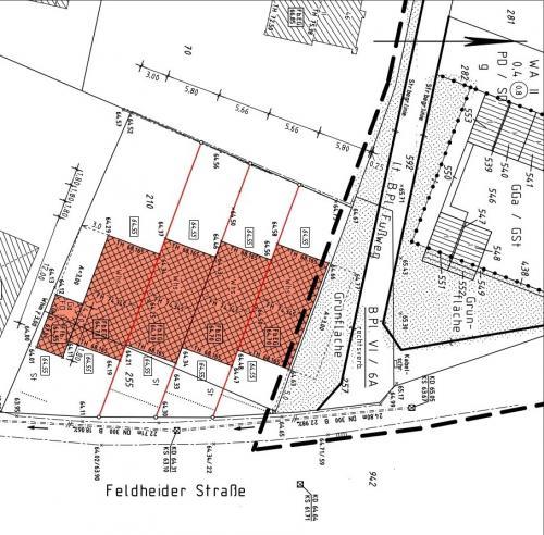 Feldheider Straße 32 - 38 - Lageplan zugeschnitten